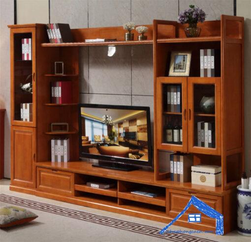 Tủ-tivi-phòng-khách-đứng-phong-cách-Đông-Dương---KT33