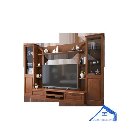 Tủ tivi phòng khách đứng phong cách Đông Dương - KT34