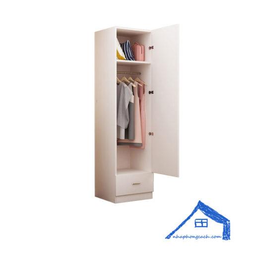Tủ-áo-mini-gỗ-công-nghiệp-có-ngăn-kéo-nhỏ-TA03-2