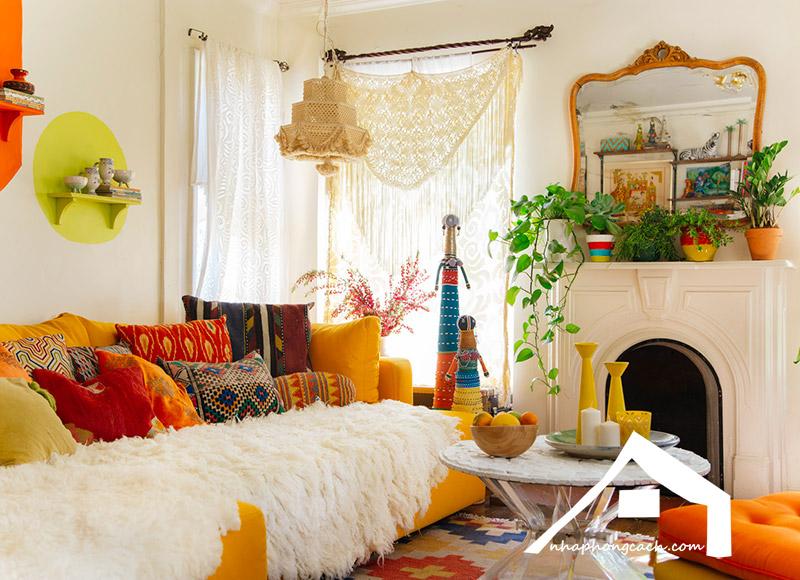 Phong cách thiết kế nội thất Bohemian