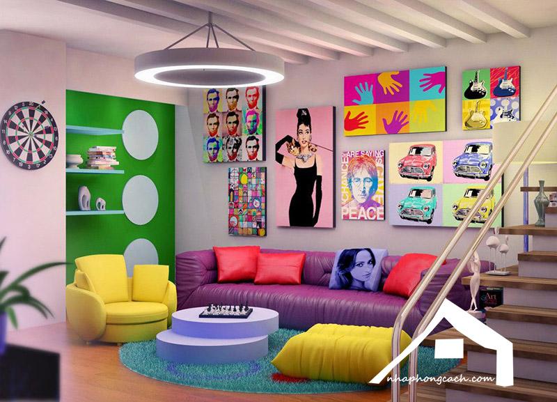 Phong cách thiết kế nội thất Pop Art