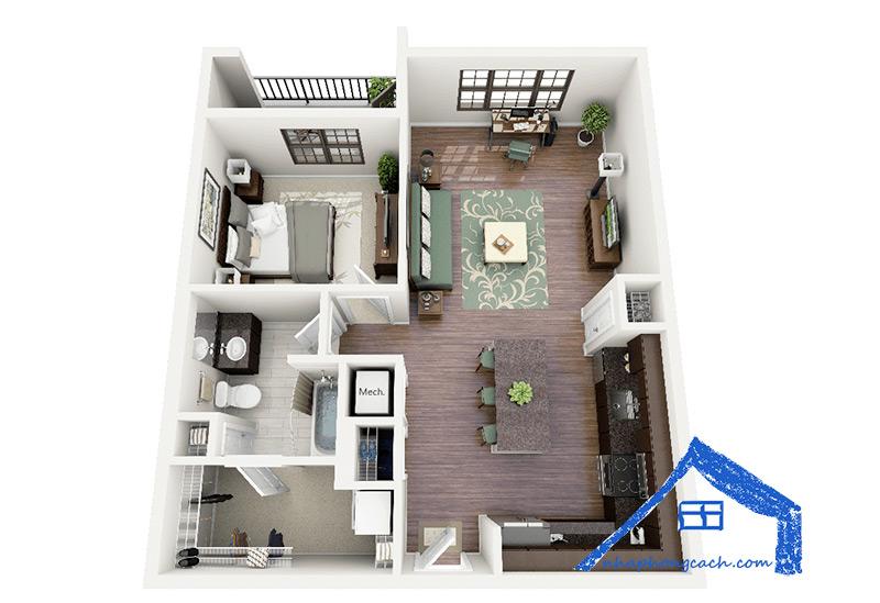 20+-thiết-kế-nội-thất-chung-cư-1-phòng-ngủ-16