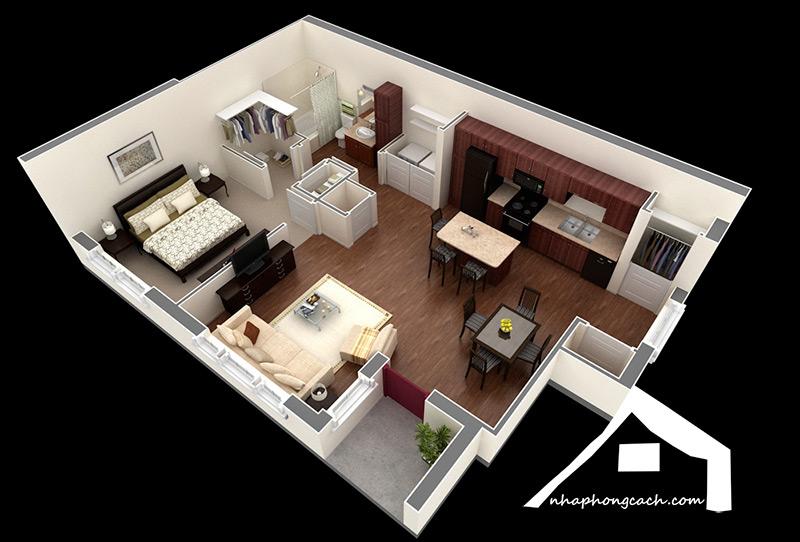 20+-thiết-kế-nội-thất-chung-cư-1-phòng-ngủ-8