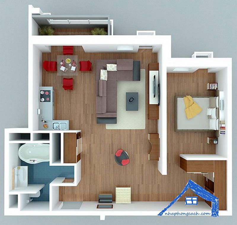 20+-thiết-kế-nội-thất-chung-cư-1-phòng-ngủ