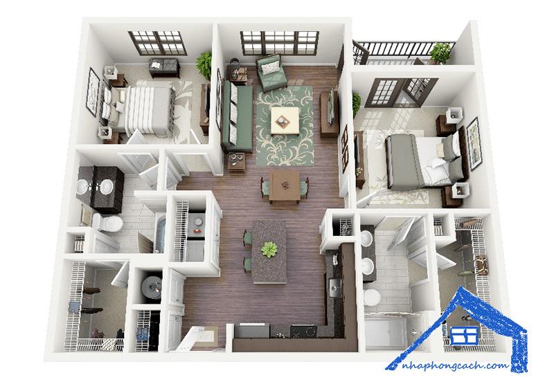 50+-thiết-kế-chung-cư-2-phòng-ngủ-33