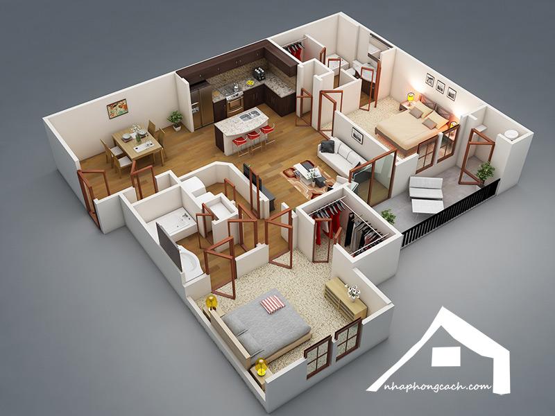 50+-thiết-kế-chung-cư-2-phòng-ngủ
