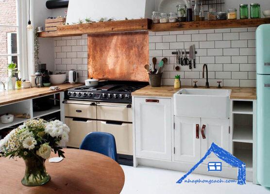 Phòng-bếp-phong-cách-Vintage