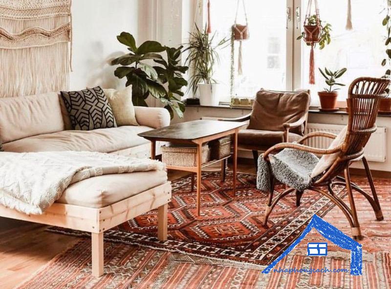 Phòng-khách-phong-cách-Bohemian