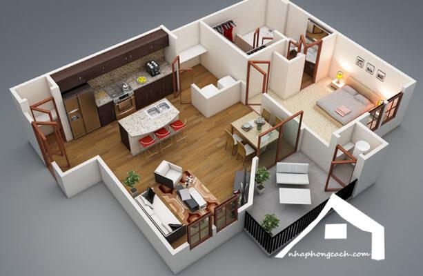 thiết-kế-nội-thất-chung-cư-50m2
