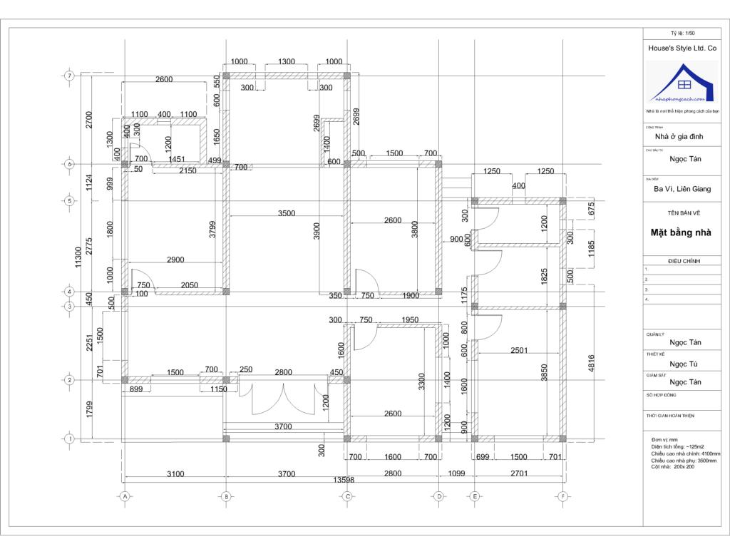 thiết kế nội thất nhà 1 tầng 120m2