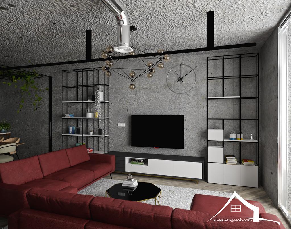 Thiết kế nội thất Industrial chung cư Times City căn 01&18 tòa T2 diện tích 110m2 10