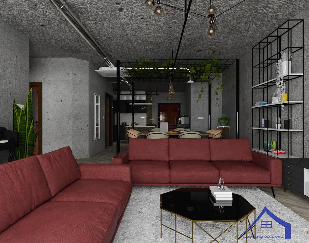 Thiết kế nội thất Industrial chung cư Times City căn 01&18 tòa T2 diện tích 110m2 11