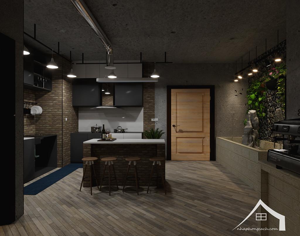 Thiết kế nội thất Industrial chung cư Times City căn 01&18 tòa T2 diện tích 110m2 12