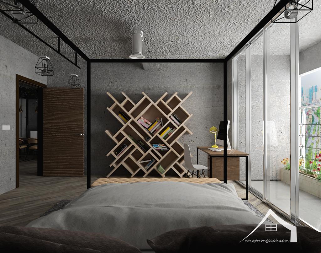 Thiết kế nội thất Industrial chung cư Times City căn 01&18 tòa T2 diện tích 110m2 13