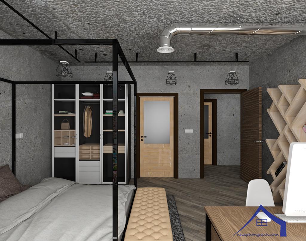 Thiết kế nội thất Industrial chung cư Times City căn 01&18 tòa T2 diện tích 110m2 14