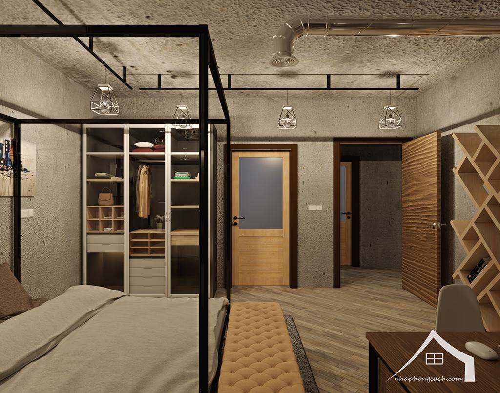 Thiết kế nội thất Industrial chung cư Times City căn 01&18 tòa T2 diện tích 110m2 16