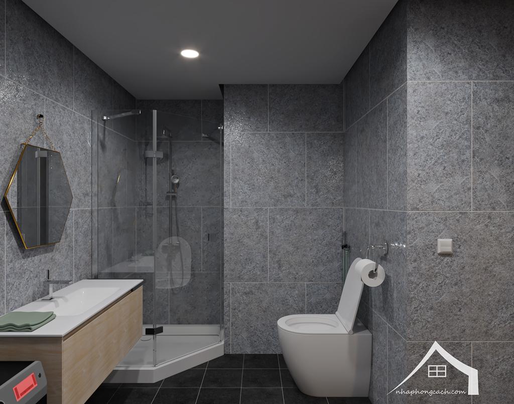 Thiết kế nội thất Industrial chung cư Times City căn 01&18 tòa T2 diện tích 110m2 17