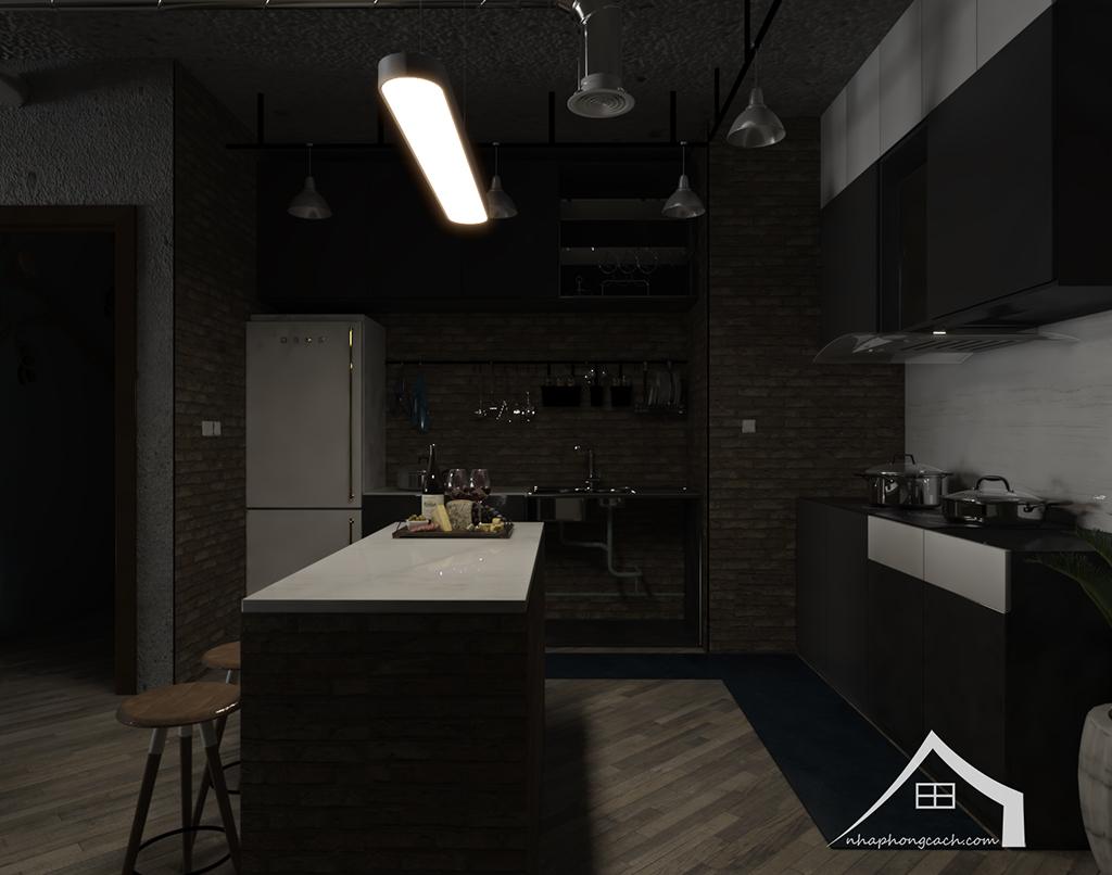 Thiết kế nội thất Industrial chung cư Times City căn 01&18 tòa T2 diện tích 110m2 2