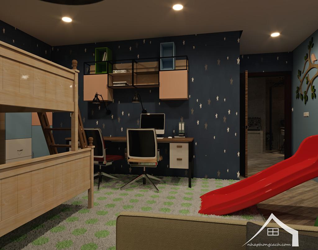 Thiết kế nội thất Industrial chung cư Times City căn 01&18 tòa T2 diện tích 110m2 22