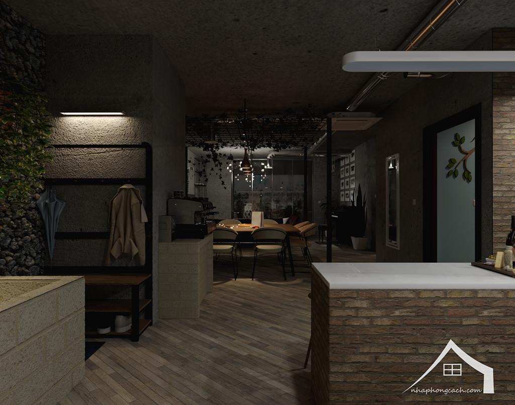 Thiết kế nội thất Industrial chung cư Times City căn 01&18 tòa T2 diện tích 110m2 3