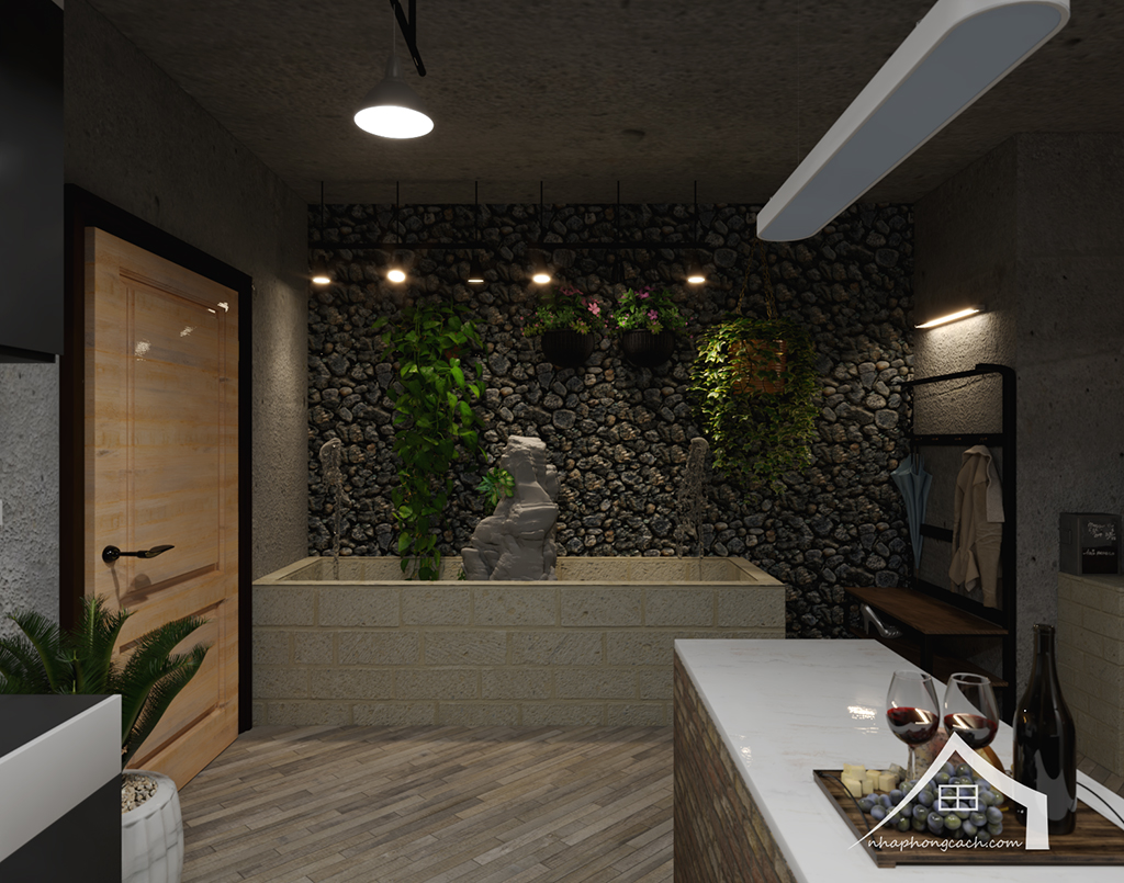 Thiết kế nội thất Industrial chung cư Times City căn 01&18 tòa T2 diện tích 110m2 5