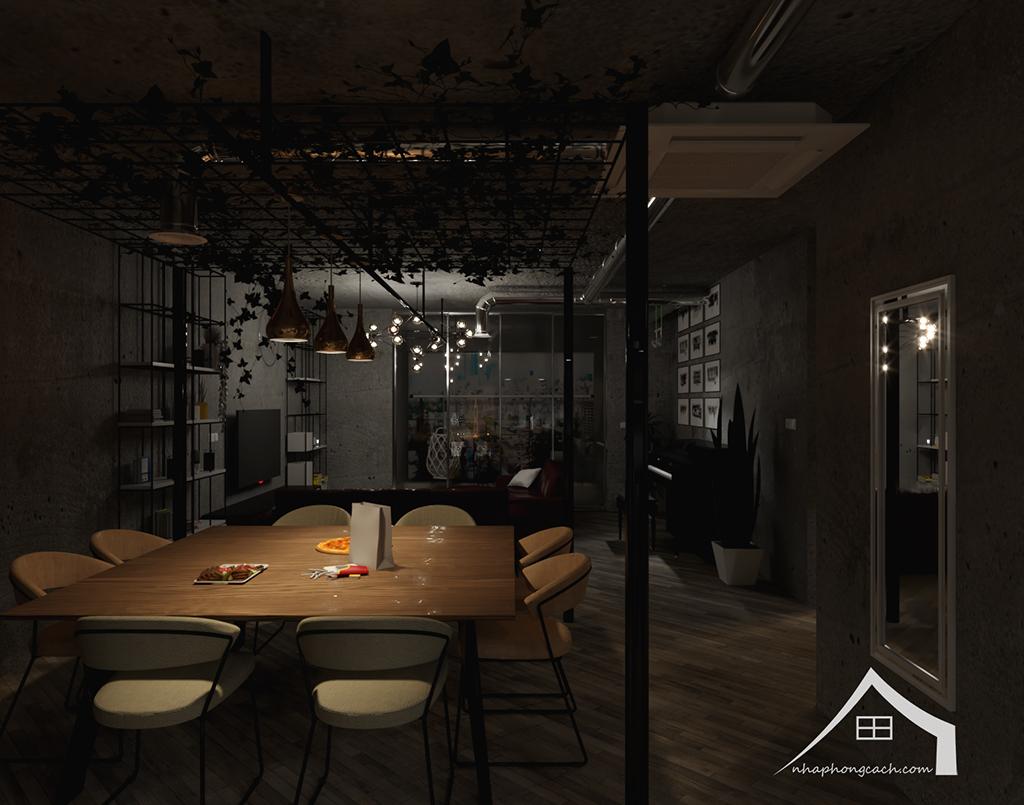 Thiết kế nội thất Industrial chung cư Times City căn 01&18 tòa T2 diện tích 110m2 7