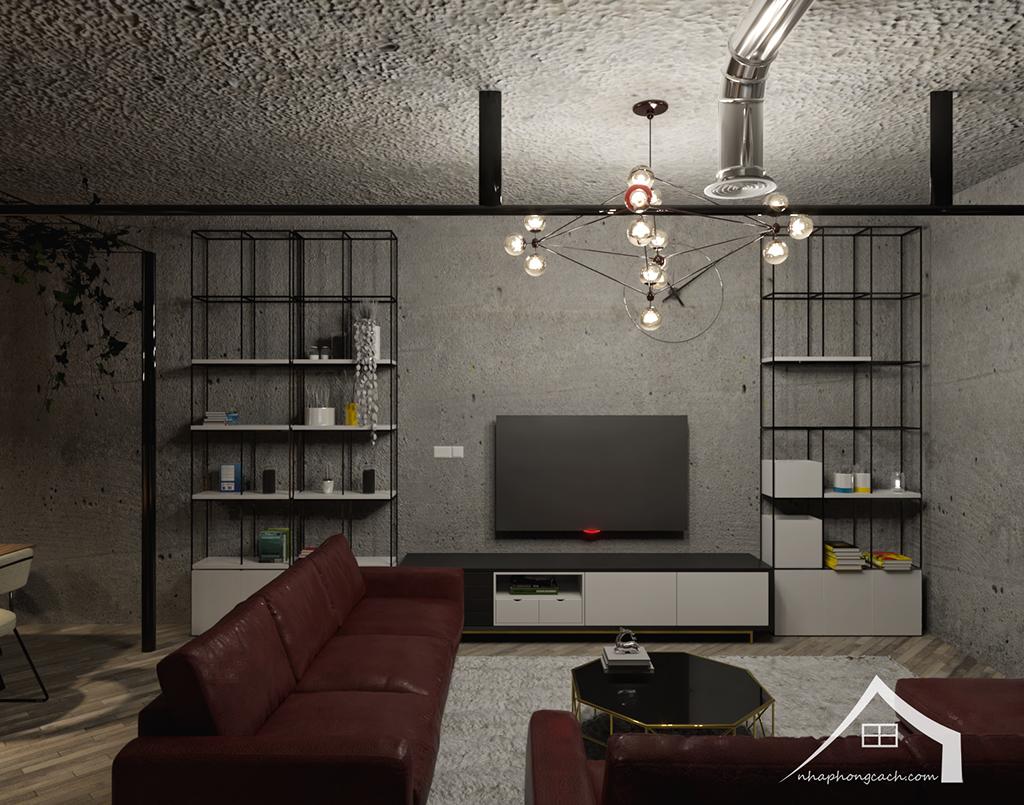 Thiết kế nội thất Industrial chung cư Times City căn 01&18 tòa T2 diện tích 110m2 8