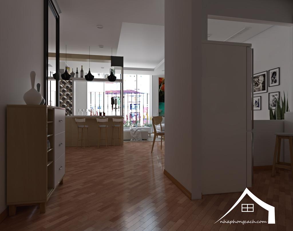 Thiết kế nội thất Times City hiện đại + Scandinavian căn 08 & 10 diện tích 94m2- 1