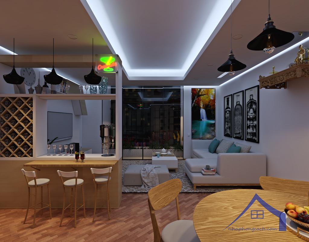 Thiết kế nội thất Times City hiện đại + Scandinavian căn 08 & 10 diện tích 94m2-10