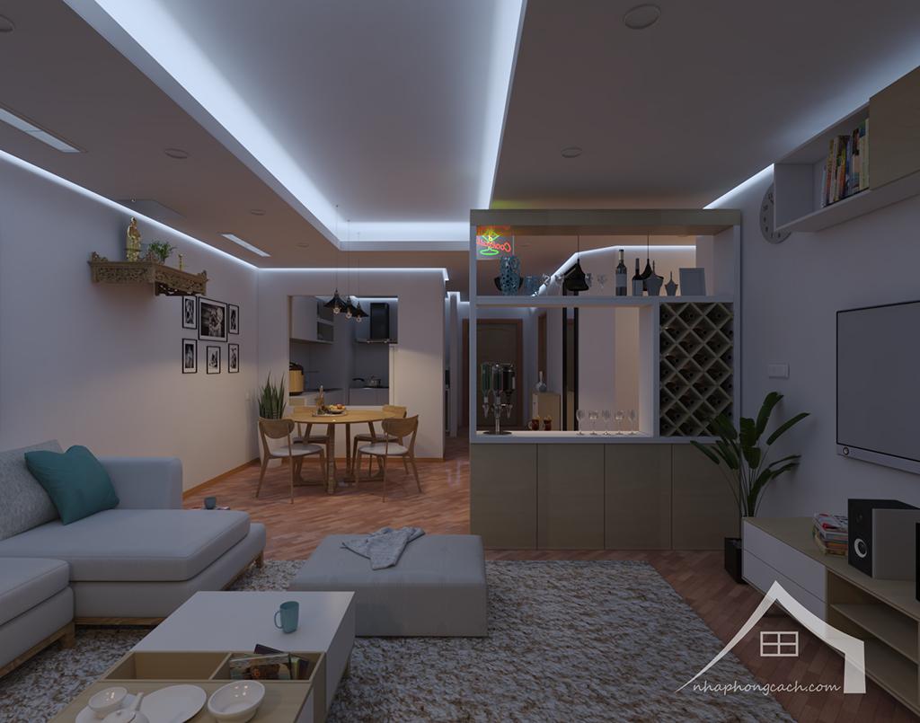 Thiết kế nội thất Times City hiện đại + Scandinavian căn 08 & 10 diện tích 94m2-11