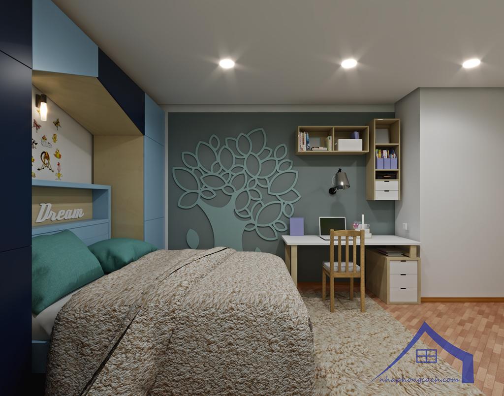 Thiết kế nội thất Times City hiện đại + Scandinavian căn 08 & 10 diện tích 94m2-26