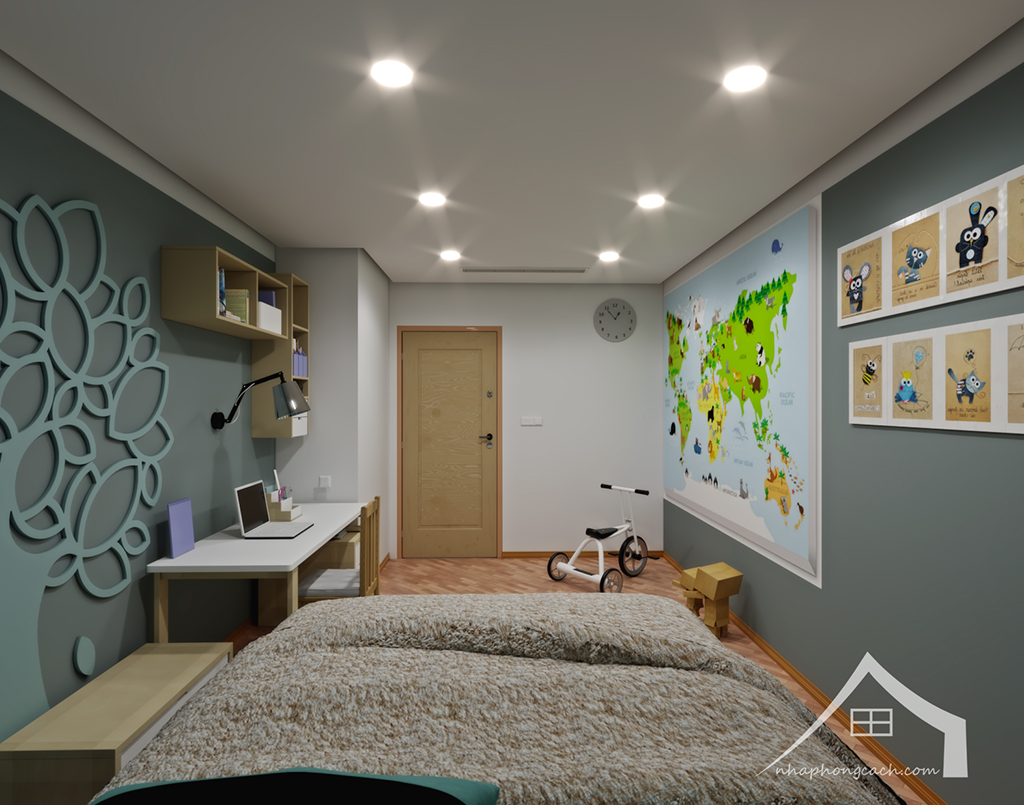 Thiết kế nội thất Times City hiện đại + Scandinavian căn 08 & 10 diện tích 94m2-27