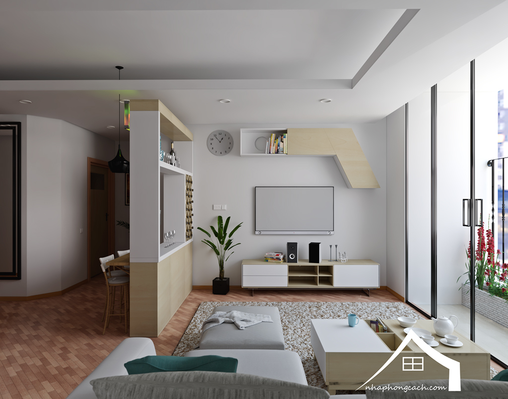 Thiết kế nội thất Times City hiện đại + Scandinavian căn 08 & 10 diện tích 94m2-3