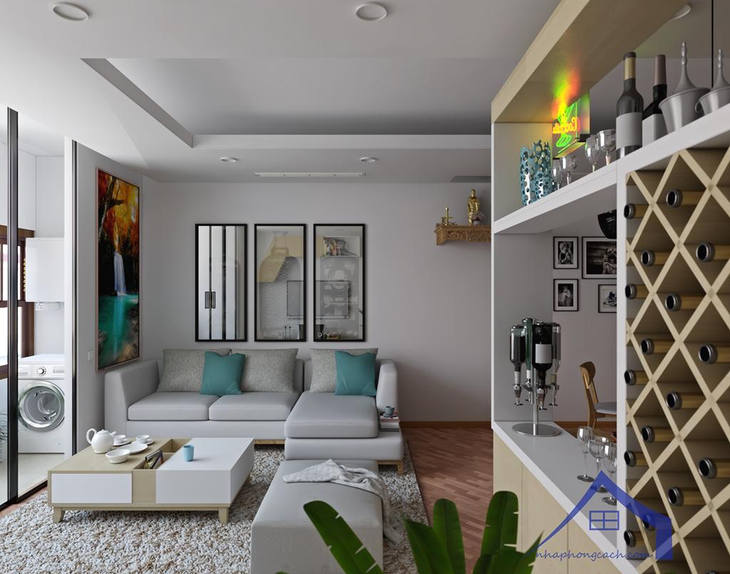 Thiết kế nội thất Times City hiện đại + Scandinavian căn 08 & 10 diện tích 94m2-4