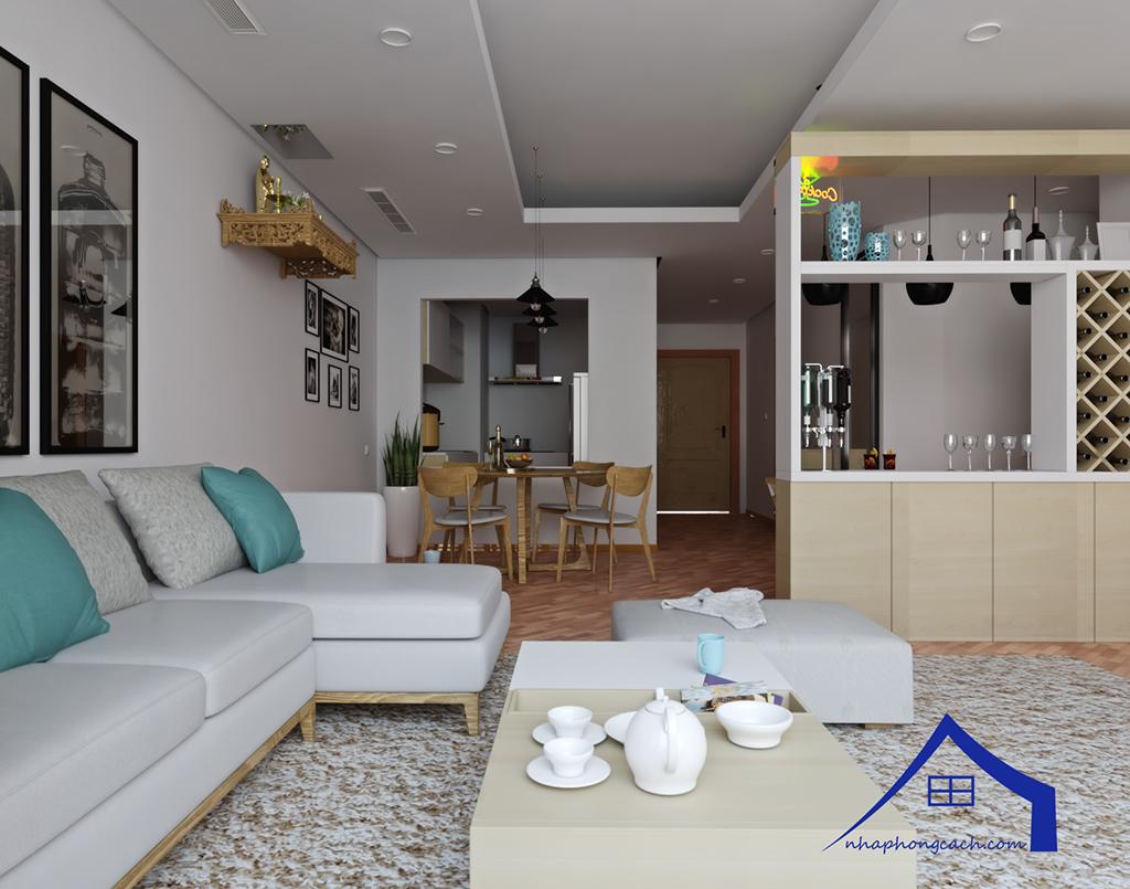 Thiết kế nội thất Times City hiện đại + Scandinavian căn 08 & 10 diện tích 94m2-5