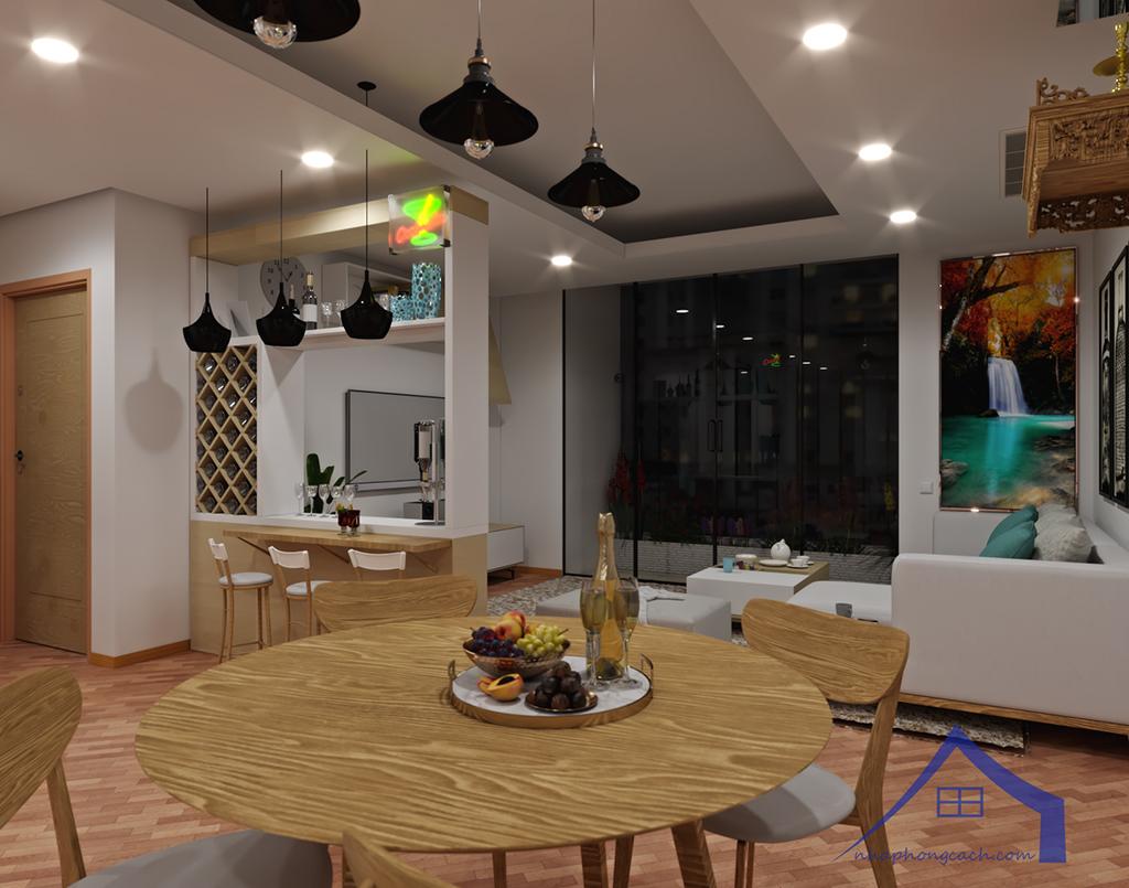 Thiết kế nội thất Times City hiện đại + Scandinavian căn 08 & 10 diện tích 94m2-6