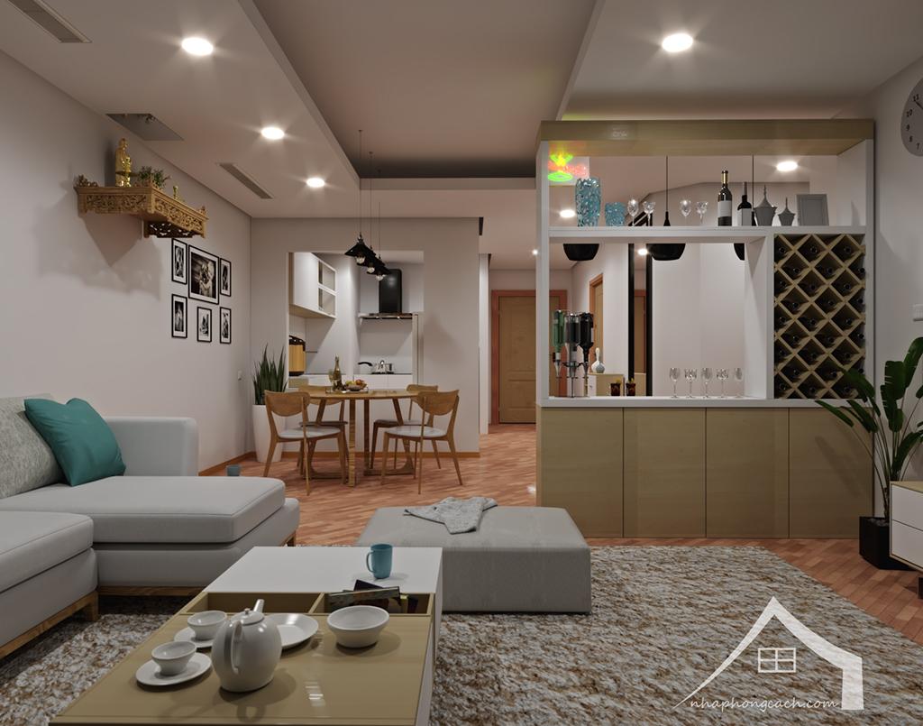 Thiết kế nội thất Times City hiện đại + Scandinavian căn 08 & 10 diện tích 94m2-7
