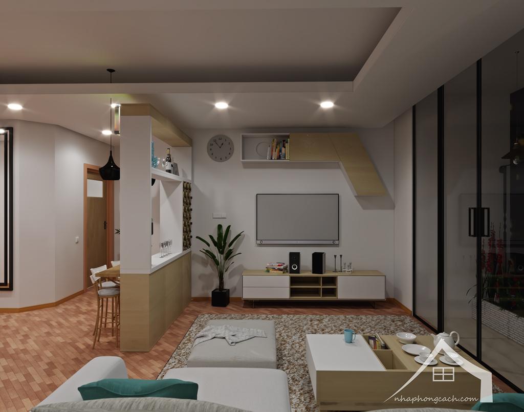 Thiết kế nội thất Times City hiện đại + Scandinavian căn 08 & 10 diện tích 94m2-8