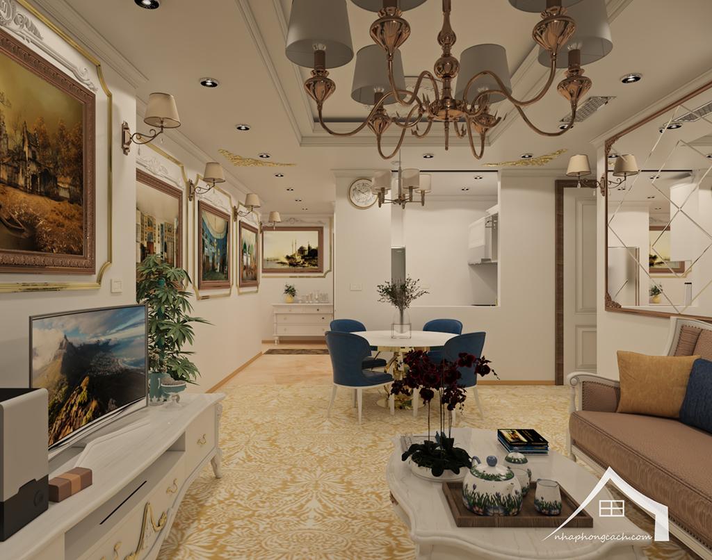 Thiết kế nội thất tân cổ điển cho chung cư Times City căn 02&16 tòa T2- 97m2 10