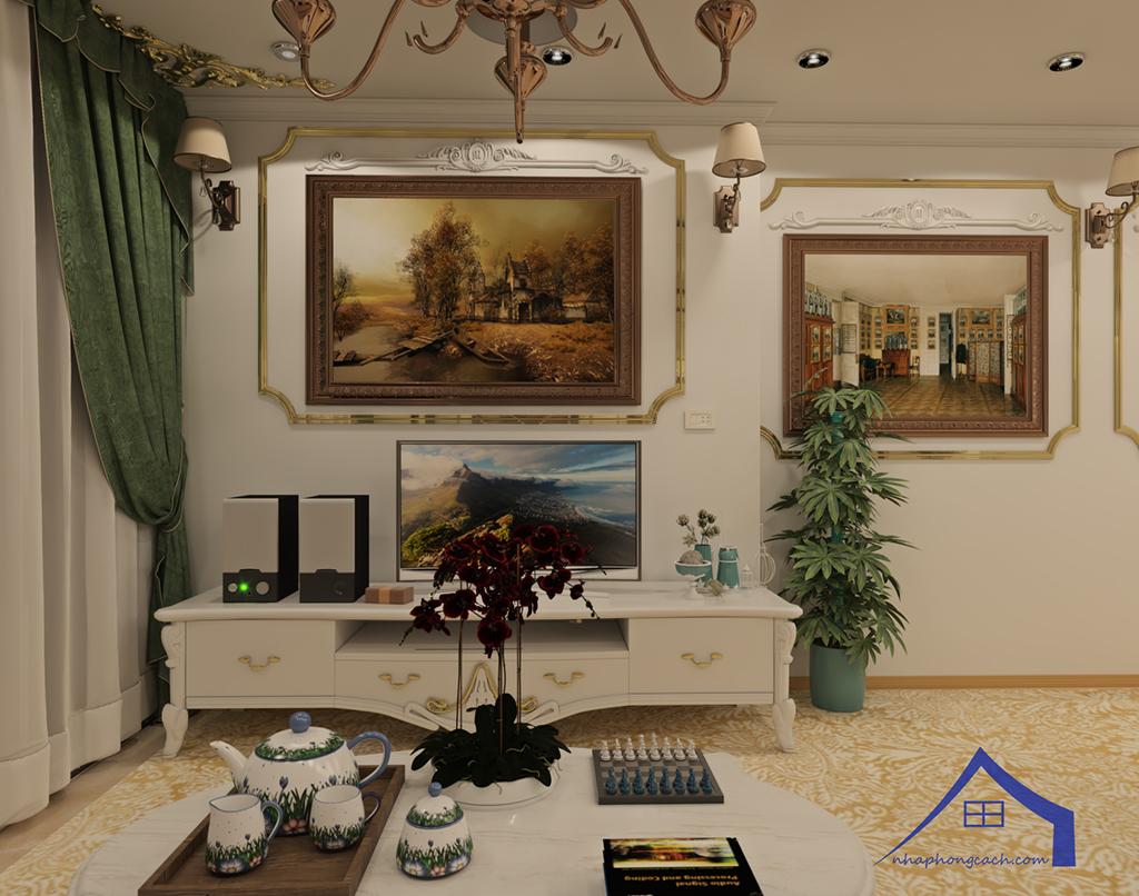 Thiết kế nội thất tân cổ điển cho chung cư Times City căn 02&16 tòa T2- 97m2 11