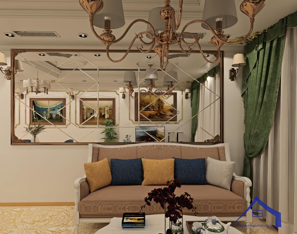 Thiết kế nội thất tân cổ điển cho chung cư Times City căn 02&16 tòa T2- 97m2 12