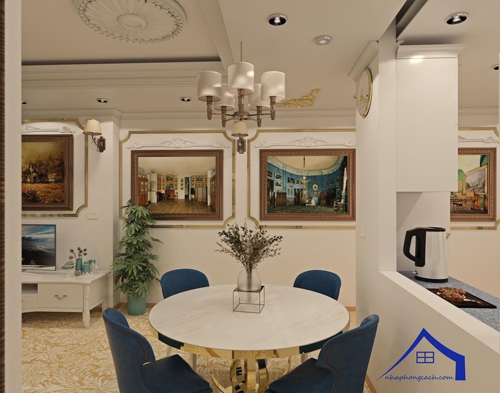 Thiết kế nội thất tân cổ điển cho chung cư Times City căn 02&16 tòa T2- 97m2 13