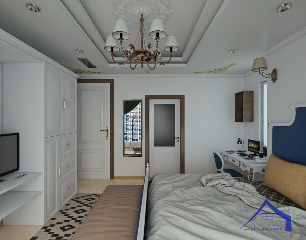 Thiết kế nội thất tân cổ điển cho chung cư Times City căn 02&16 tòa T2- 97m2 18