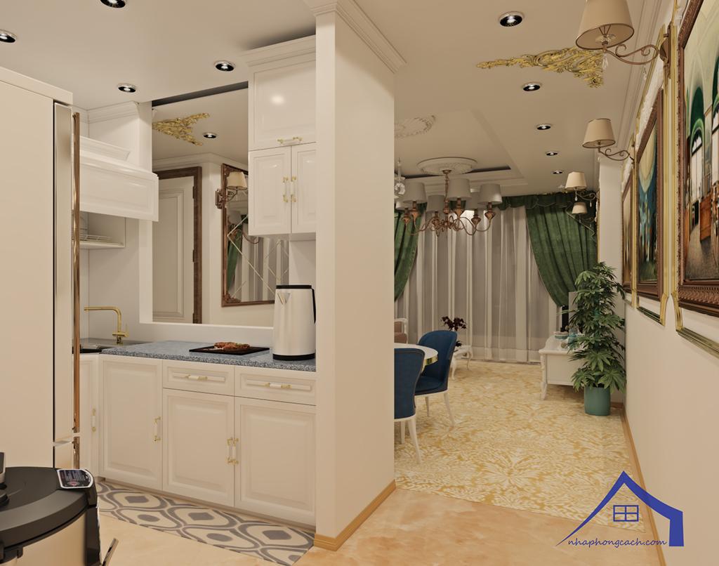 Thiết kế nội thất tân cổ điển cho chung cư Times City căn 02&16 tòa T2- 97m2 2