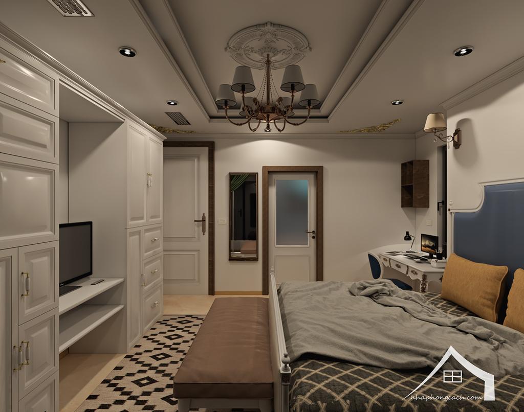 Thiết kế nội thất tân cổ điển cho chung cư Times City căn 02&16 tòa T2- 97m2 21