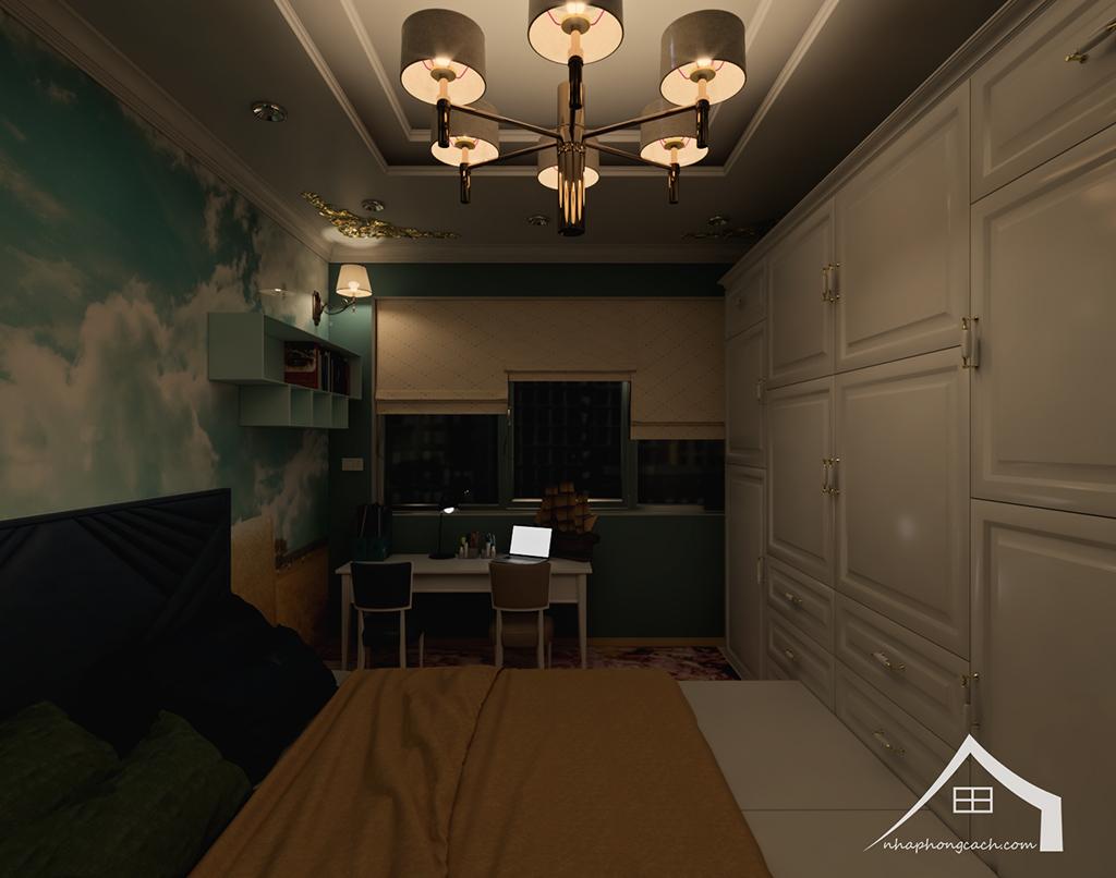 Thiết kế nội thất tân cổ điển cho chung cư Times City căn 02&16 tòa T2- 97m2 28