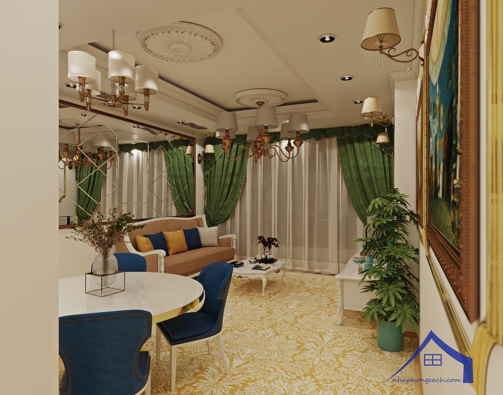 Thiết kế nội thất tân cổ điển cho chung cư Times City căn 02&16 tòa T2- 97m2 4