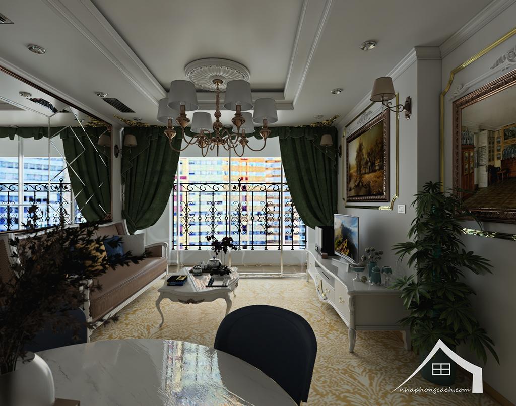 Thiết kế nội thất tân cổ điển cho chung cư Times City căn 02&16 tòa T2- 97m2 5