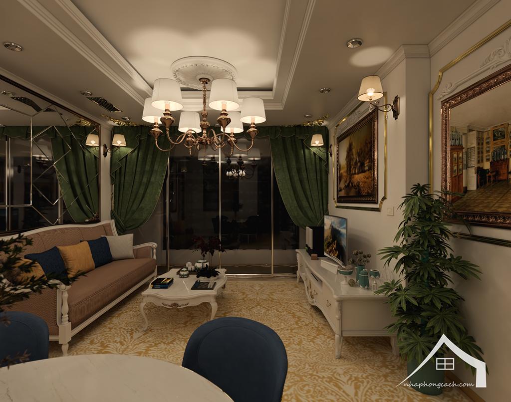 Thiết kế nội thất tân cổ điển cho chung cư Times City căn 02&16 tòa T2- 97m2 7