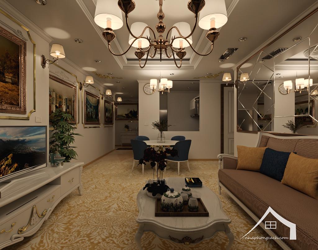Thiết kế nội thất tân cổ điển cho chung cư Times City căn 02&16 tòa T2- 97m2 8